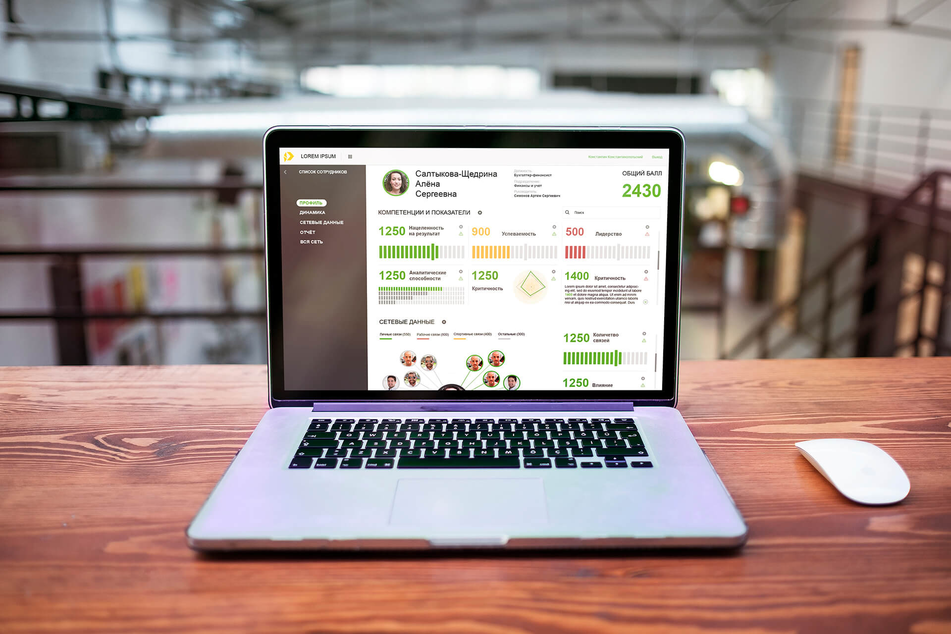 Дизайн интерфейса аналитической платформы — UX/UI