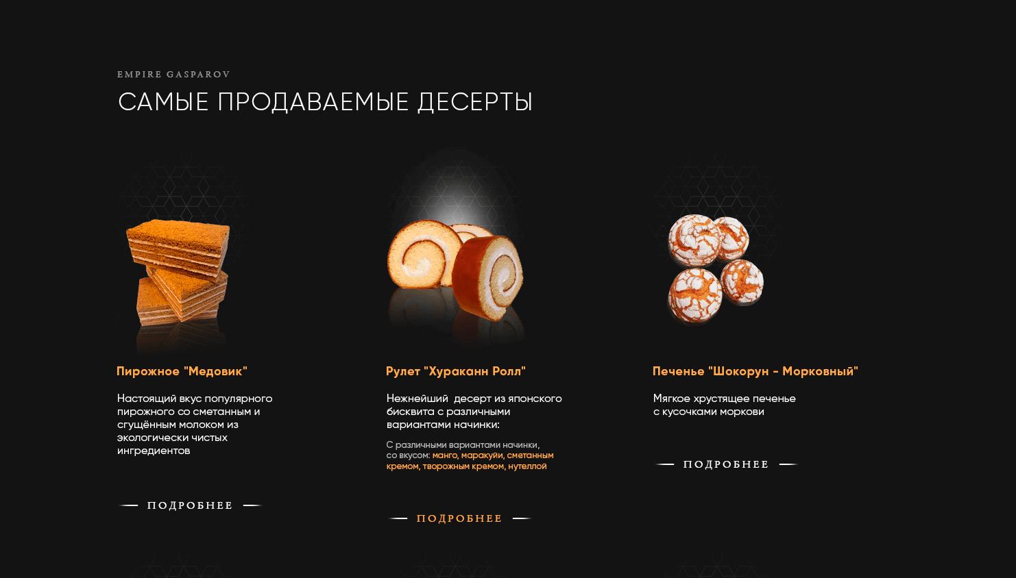 Сайт кондитерской на заказ в Москве, пример, стоимость, сроки